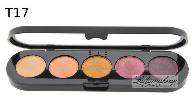 Make-Up Atelier Paris -  Paleta 5 cieni - T17