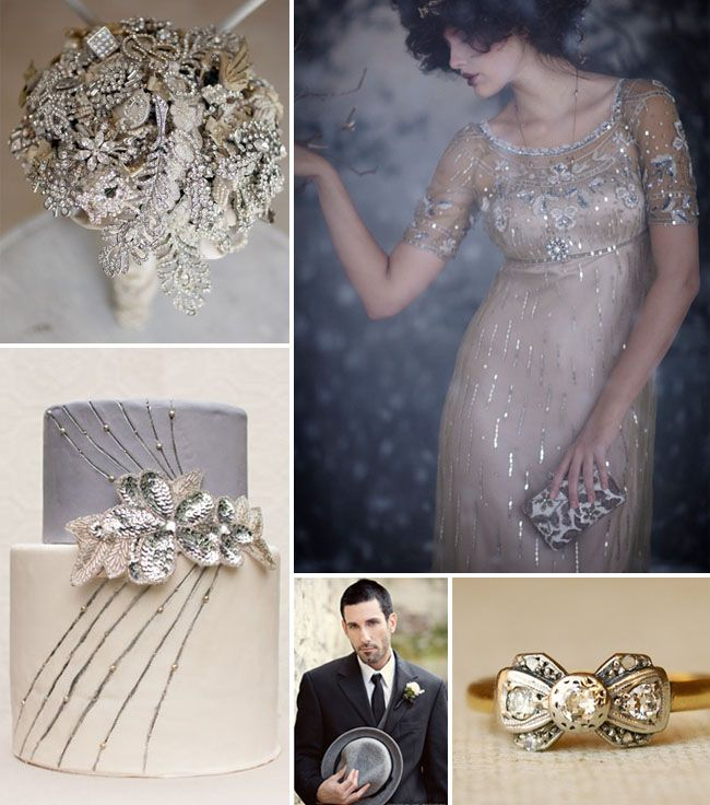 Winter weddings can be so glam, don't ya think? I'm currently dreaming of a winter wedding with glam + vintage inspirations….