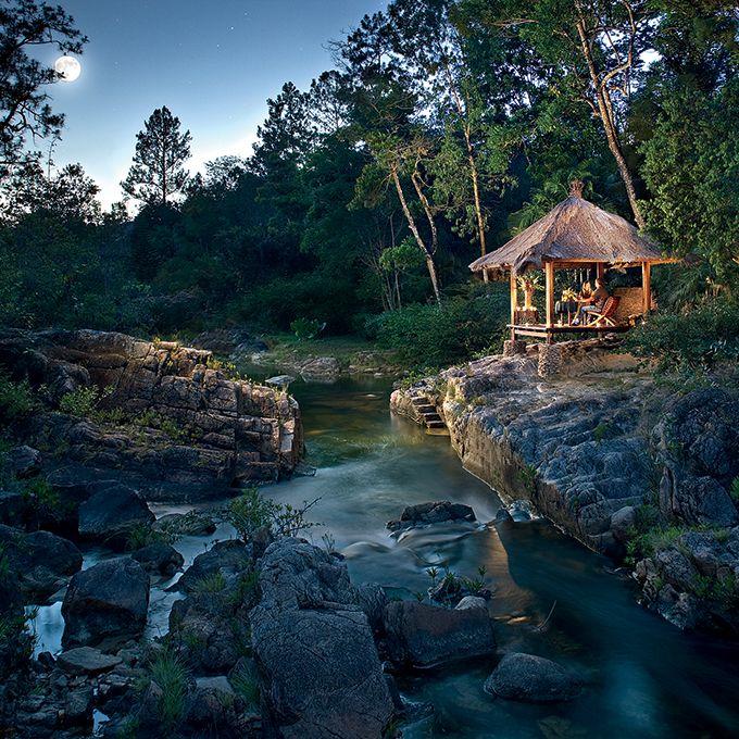 Adventurous Glamping Honeymoon Destinations: Blancaneaux Lodge in Mountain Pine Ridge Forest Reserve, Belize