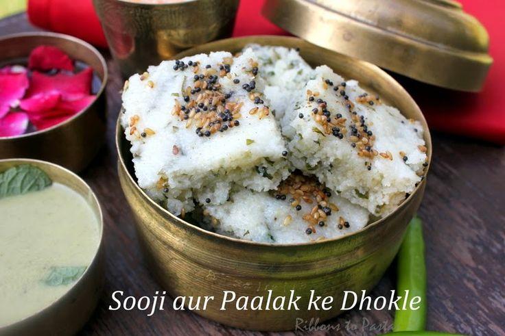 Ribbon's to Pasta's: Sooji aur Paalak ke Dhokle