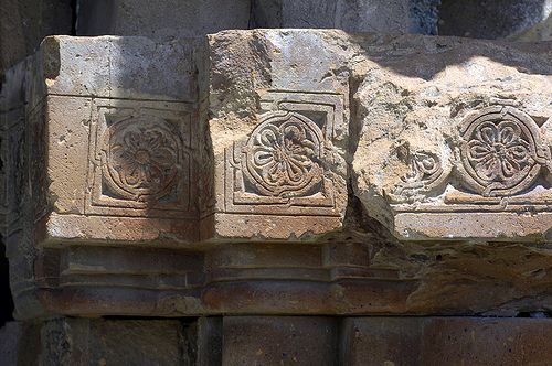Architectural detail, Armenian Cathedral of Ani, Church of the Holy Mother of God (Surp Asdvadzadzin), Armenian Kingdom of Ani, SE Turkey