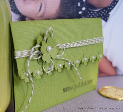 Pretty with the flowers along the edge of a folded card. @ Gaby Creates: You're My Good Luck Charm | Timeless Twine (May'13)