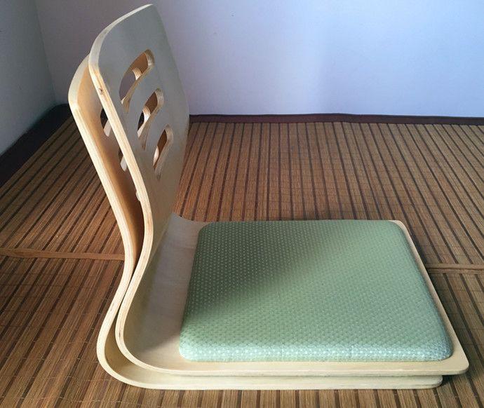 (2pcs/lot)Japanese Zaisu Chair Seat Cushion Natural Finish Asian Traditional Furniture Living Room Tatami Legless Floor Chair