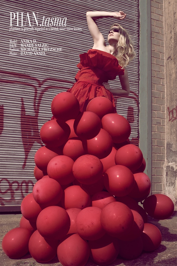 giant red balloon dress