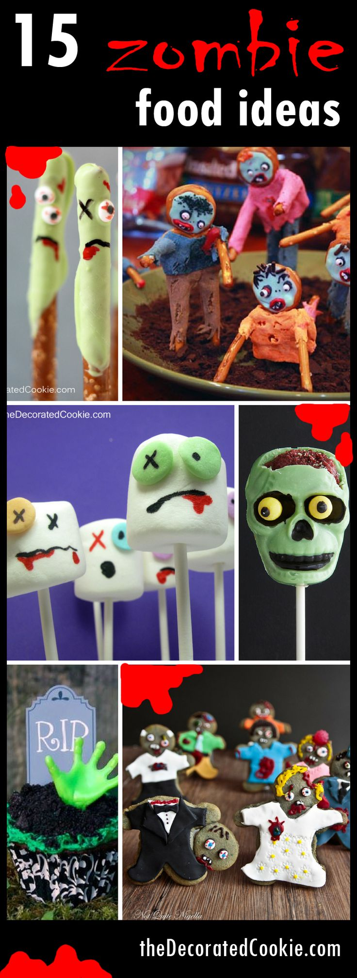 15 zombie food ideas roundup for Halloween or The Walking Dead party
