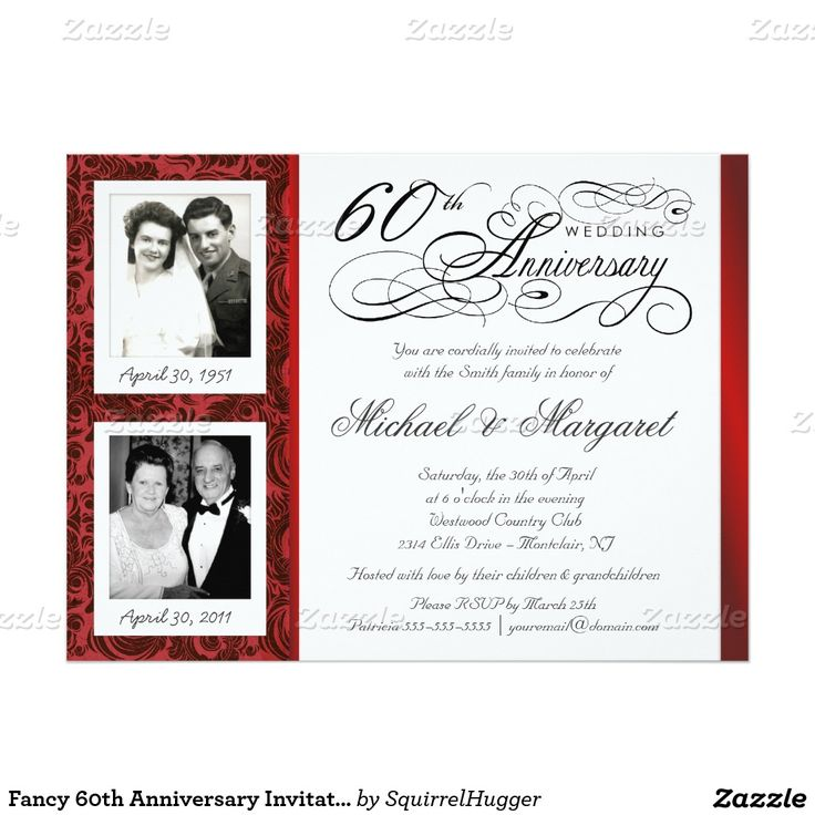 35 best 60th Wedding Anniversary - Invites images on Pinterest ...
