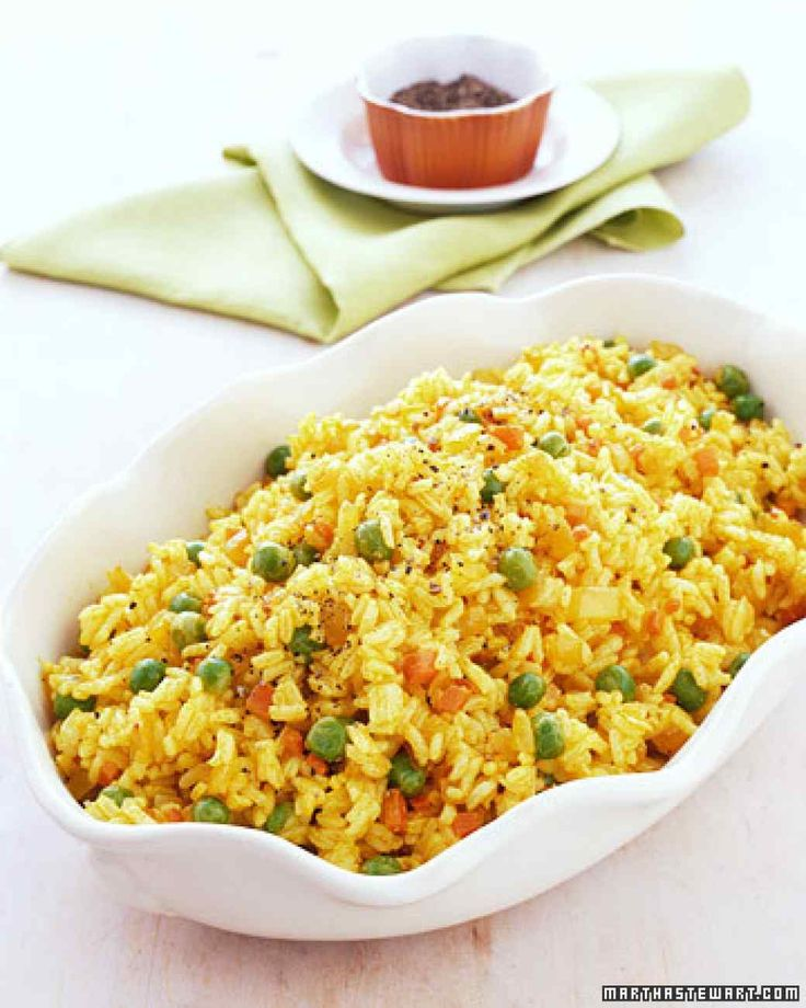 Yellow Rice Pilaf (with Turmeric)   Martha Stewart