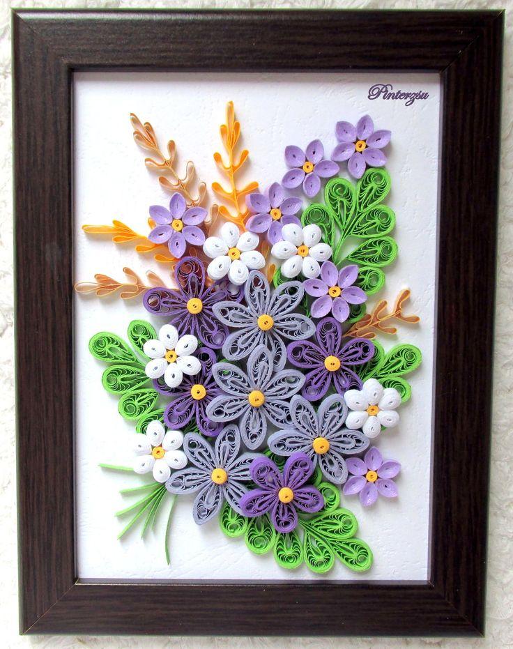 картинки панно в технике канзаши полевые цветы