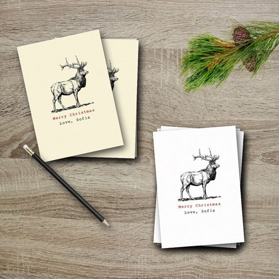 PERSONALISED CHRISTMAS CARD pack with a by StudioInBudapest