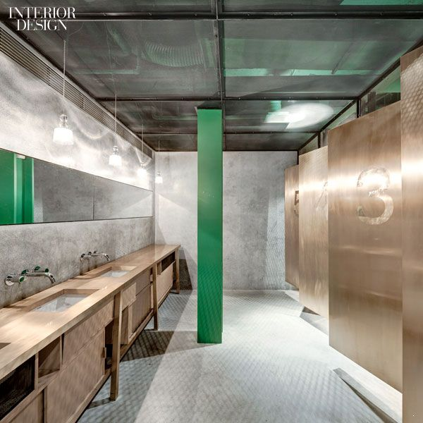 I don't know where this is, but I love this for a commercial bathroom.