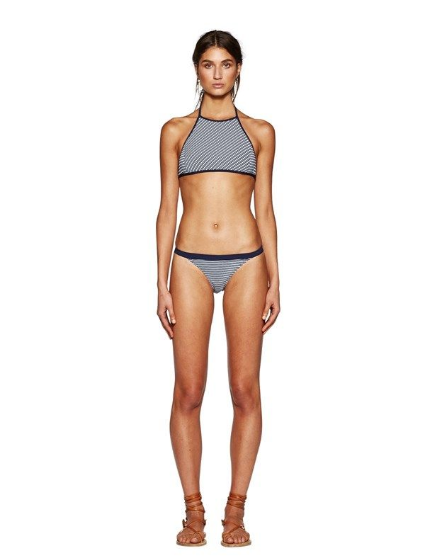 Swim Stripe Hype High Neck Bikini Top by bec and bridge
