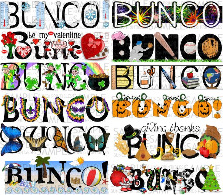 One Year of Bunco Sets | Bunco Printables More