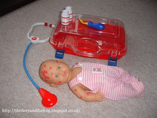 Dr role play we have lots of new dolls to borrow as well as doctor kits, grab yourself some cheap red dot stickers and let the fun begin.