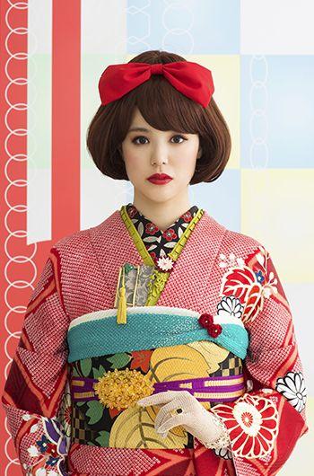 via KimonoNagoya.tumblr.com cute kitsch cartoon pop meets traditional geisha contemporary yumi japan style cute wall art for alice
