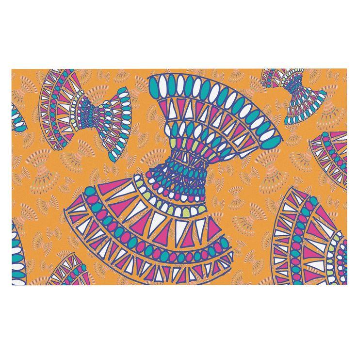 "Miranda Mol ""Tribal Fun Orange"" Abstract Tangerine Decorative Door Mat"