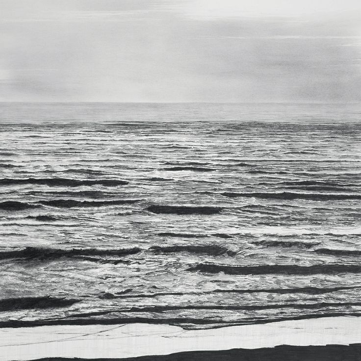 francisco faria - 'vague scenery #2', drawing, pencil on paper, 2007, 55x55cm.