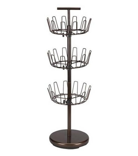 Household Essentials Anique Bronze 3-Tier Revolving Shoe Tree at Joann.com