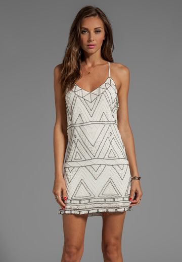 PARKER Finn Dress in Ivory