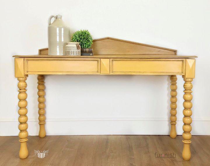 This Antique Console Table Or Desk Has Been Hand Painted In Annie