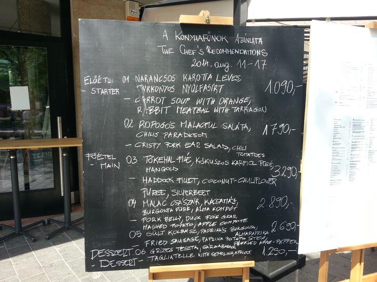 Design Terminal restaurant prices in HUF forint