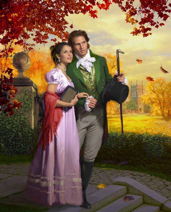 Robert Papp: regency romantic couple.