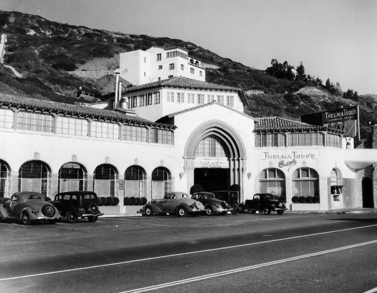 Thelma Todd's Sidewalk Cafe at 17575 Pacific Coast Highway (1935)