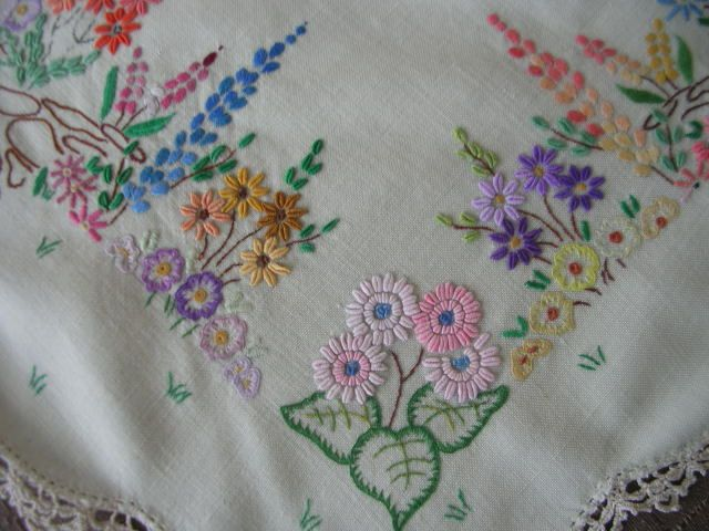 Table Cloth Vintage from Great Aunt by meeka5, via Flickr