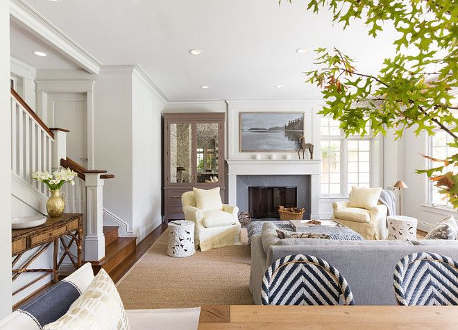 """The Ultimate Gray KitchenThe walls and cabinetry are Benjamin Moore """"Gray Owl' OC-52. The designer used a satin sheen on the cabinets, moldings, doors and windows, and an eggshell sheen on the walls. The ceiling is Benjamin Moore 'Pure White' OC-64, in a flat sheen."""