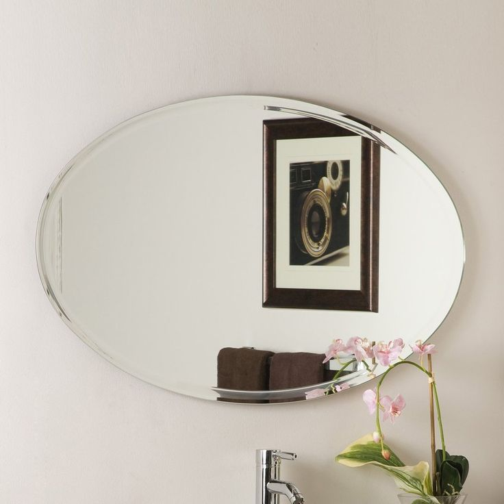 Awesome Websites Decor Wonderland In W X In H Oval Frameless Bathroom Mirror With Hardware Ssm