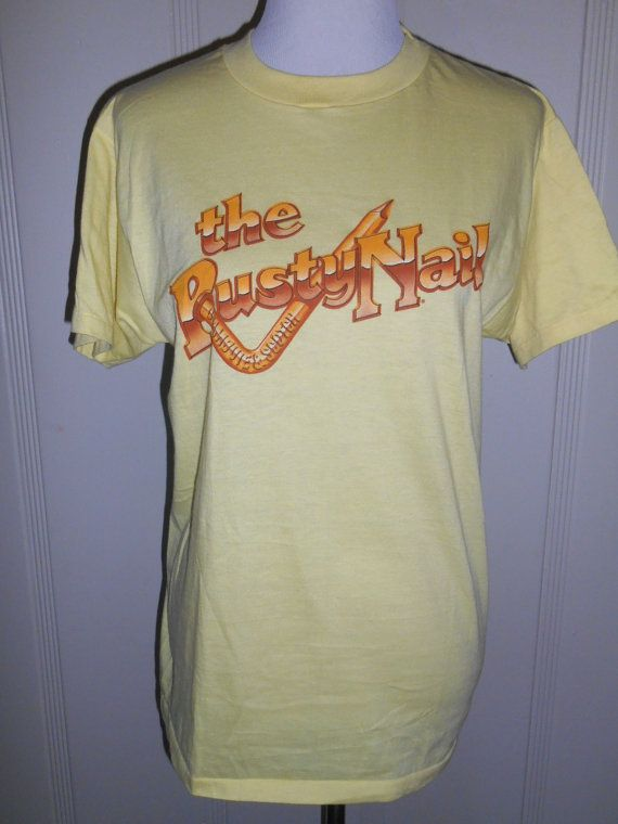 Hanes 80s  Vintage  the Rusty Nail Scotch by ATELIERVINTAGESHOP