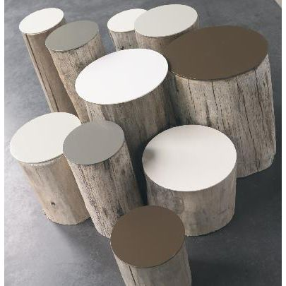 table-basse-en-rondin-de-bois