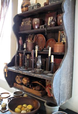 Primitive shelf @Emma Zangs Zangs Zangs Walters-this is a bit bigger version of your shelves that you painted.This one has a bit more white distressing on it I think.