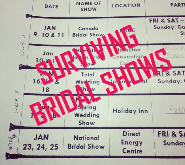 Tips on how to Survive a Bridal show and get the most out of the experience - from Liuna Station's wedding experts!