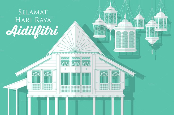 hari raya village/kampung vector - Illustrations - 1