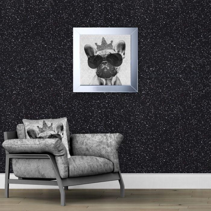 24+ Chambre mur noir paillete ideas