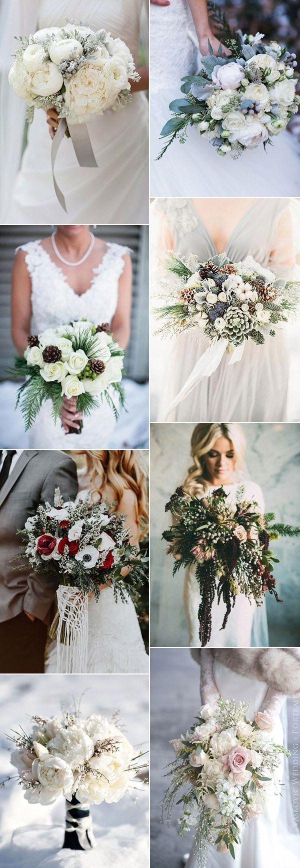 wedding bouquets for winter wedding ideas