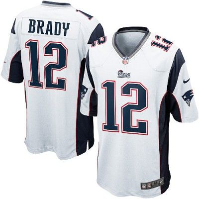 buy youth nike new england patriots 12 tom brady elite white nfl jersey in our .