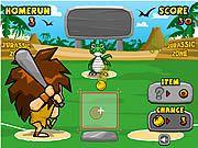 cool stoneage theme Baseball game. Beat the dino!