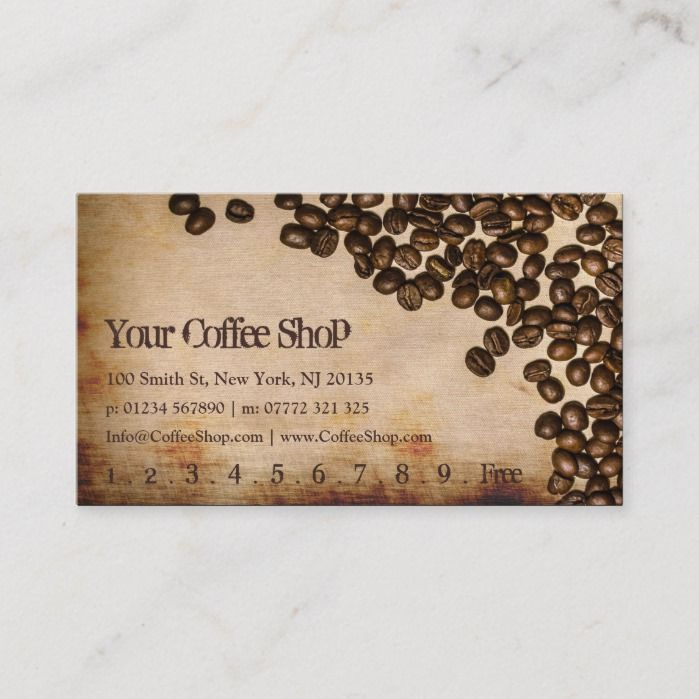 Old Hessian Coffee Bean Photo Punch Card Zazzle Com In 2020 Coffee Beans Photo Business Cards Modern Coffee Shop