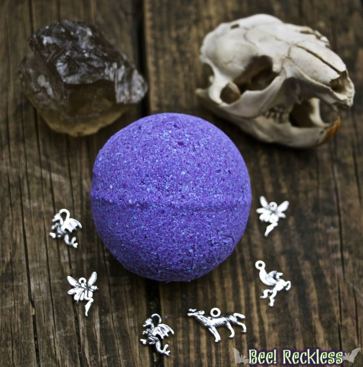 Care of Magical Creatures Bath Bomb: Hidden Necklace Bath Fizzy. Magic, Witch, Fantasy, LARP, Harry Potter, Wizard, Patronus, Goth, GoT by MagickAndMacabreCo on Etsy https://www.etsy.com/listing/528364018/care-of-magical-creatures-bath-bomb