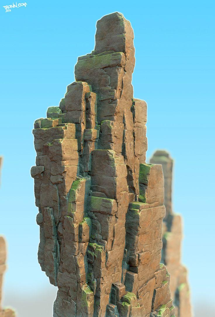 Desert Mountain, Jonas Ronnegard on ArtStation at http://www.artstation.com/artwork/desert-mountain