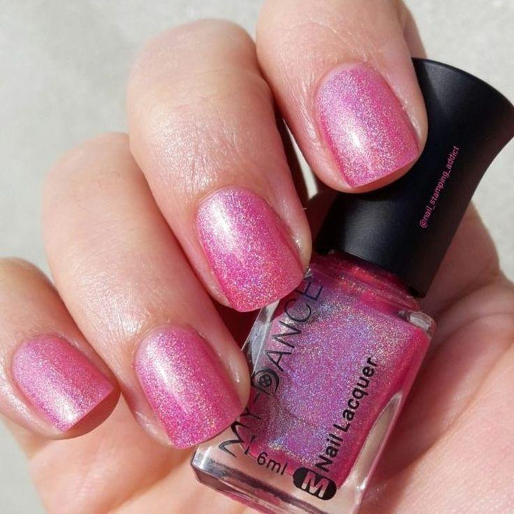 Nailpolis Museum of Nail Art   pink holo nail polish by beautybigbang