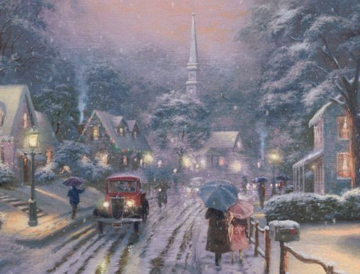 thomas kinkade christmas - Google Search