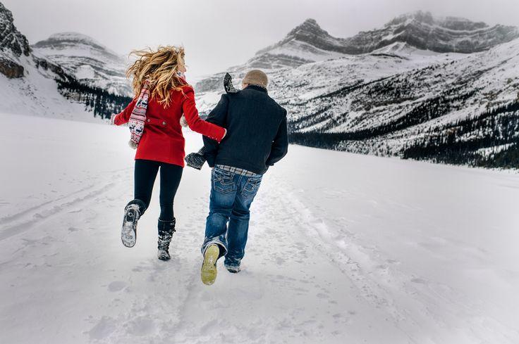 Lake Louise - Rocky Mountains Alberta - Engagement Shoot.