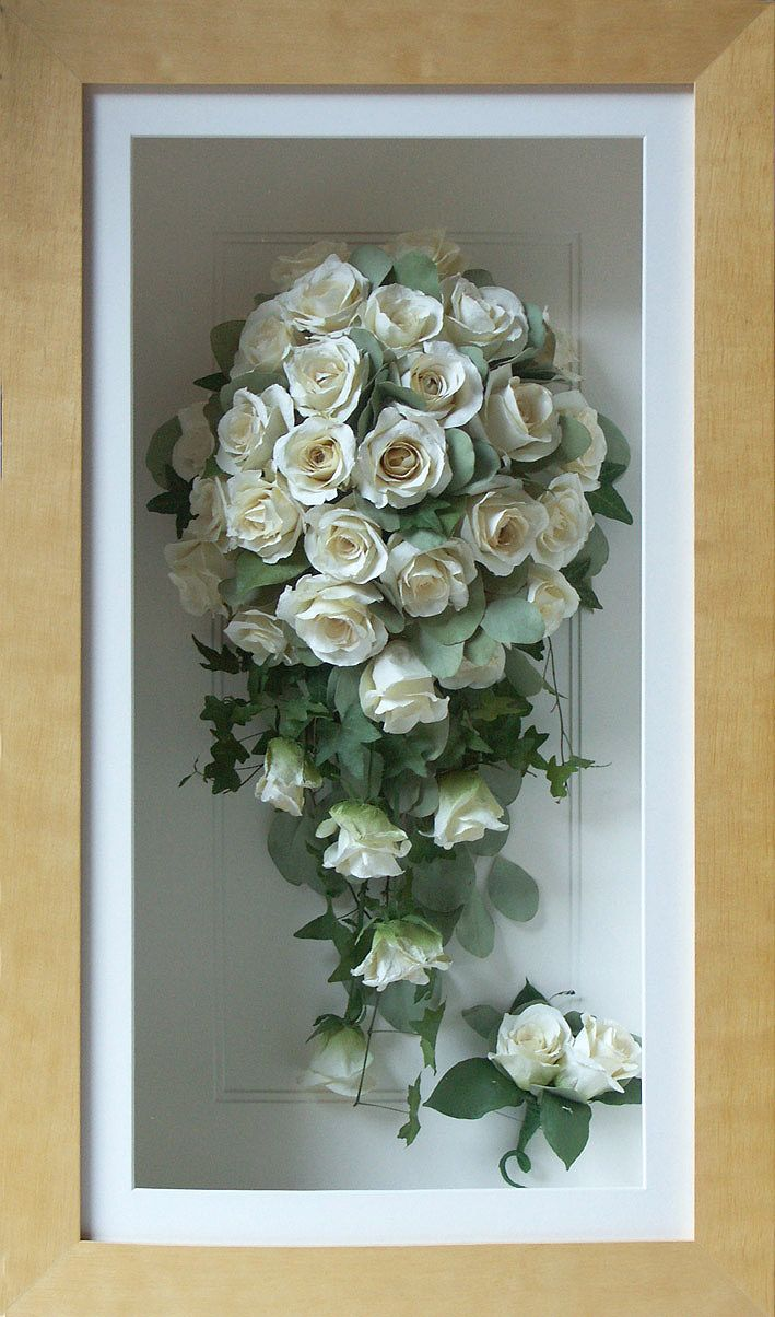 Re Purpose Your Wedding Bridal Bouquet In Shadow Box Or Frame To Use As Home
