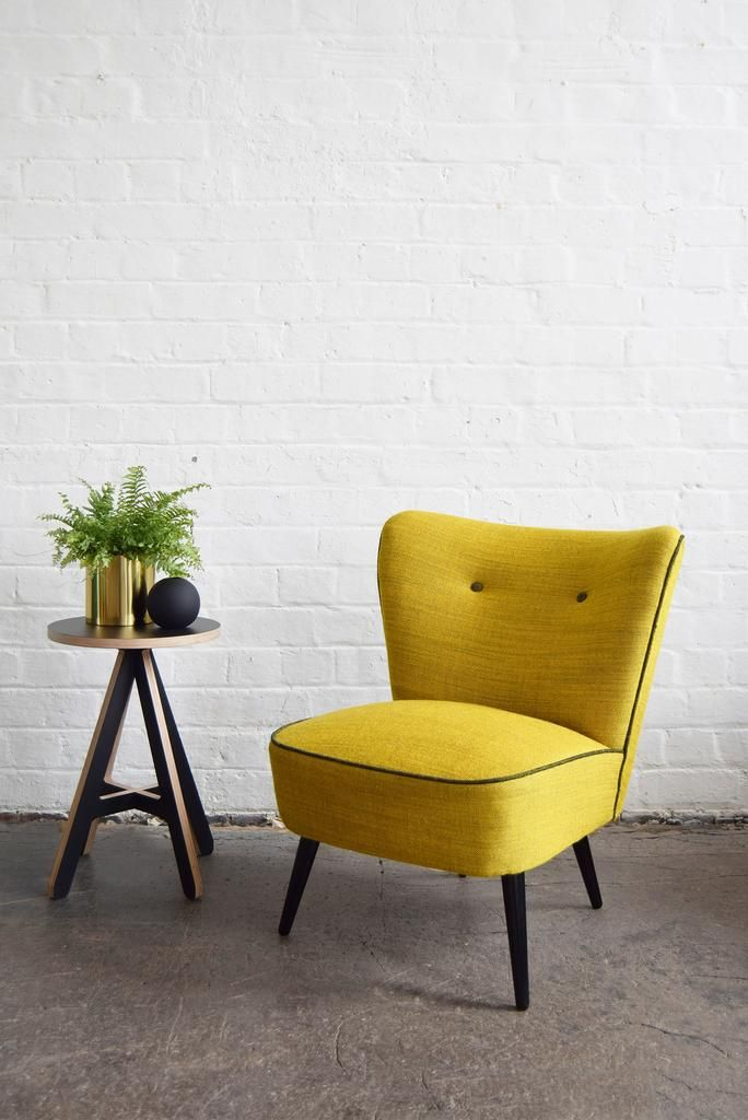 Yellow Wool Cocktail Chair