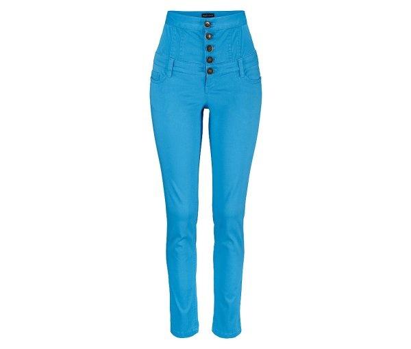 pantaloni cu talie extra inalta albastru royal