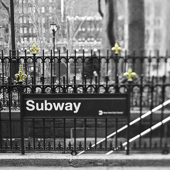 New York City Subway Photography NCY Mad Men black and by Raceytay, $15.00