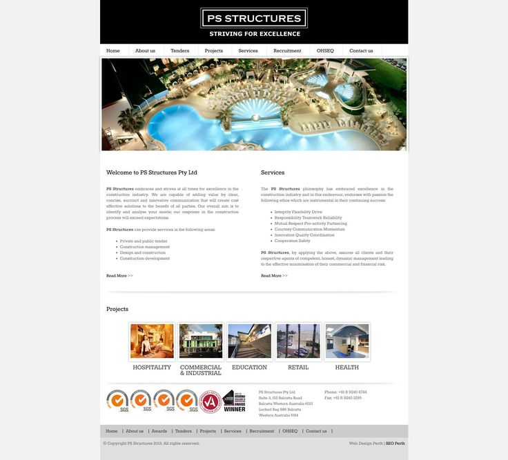 PS Structures Website Design by Star 3 Media