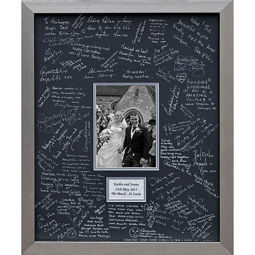 matting that can be signed in lieu of a guest book, later to be filled with a photo